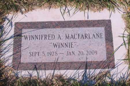 "MACFARLANE, WINNIFRED A.  ""WINNIE"" - Traill County, North Dakota | WINNIFRED A.  ""WINNIE"" MACFARLANE - North Dakota Gravestone Photos"
