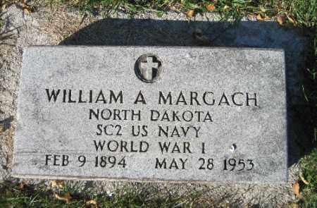 MARGACH, WILLIAM A. - Traill County, North Dakota   WILLIAM A. MARGACH - North Dakota Gravestone Photos