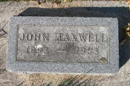 MAXWELL, JOHN - Traill County, North Dakota | JOHN MAXWELL - North Dakota Gravestone Photos