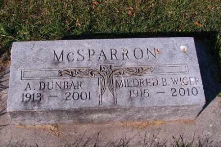 MCSPARRON, A. DUNBAR - Traill County, North Dakota | A. DUNBAR MCSPARRON - North Dakota Gravestone Photos
