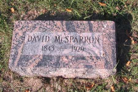 MCSPARRON, DAVID - Traill County, North Dakota | DAVID MCSPARRON - North Dakota Gravestone Photos