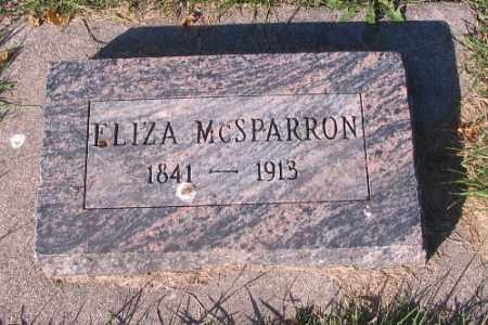 MCSPARRON, ELIZA - Traill County, North Dakota | ELIZA MCSPARRON - North Dakota Gravestone Photos
