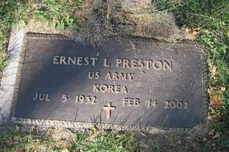 PRESTON, ERNEST L. - Traill County, North Dakota | ERNEST L. PRESTON - North Dakota Gravestone Photos