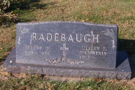 RADEBAUGH, ARNOLD O. - Traill County, North Dakota | ARNOLD O. RADEBAUGH - North Dakota Gravestone Photos