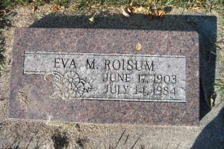 ROISUM, EVA M. - Traill County, North Dakota   EVA M. ROISUM - North Dakota Gravestone Photos