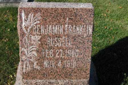 RUSSELL, BENJAMIN FRANKLIN - Traill County, North Dakota | BENJAMIN FRANKLIN RUSSELL - North Dakota Gravestone Photos