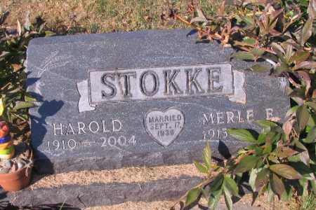 STOKKE, HAROLD - Traill County, North Dakota   HAROLD STOKKE - North Dakota Gravestone Photos