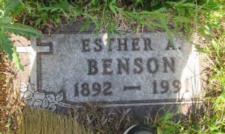 BENSON, ESTHER A. - Ward County, North Dakota | ESTHER A. BENSON - North Dakota Gravestone Photos