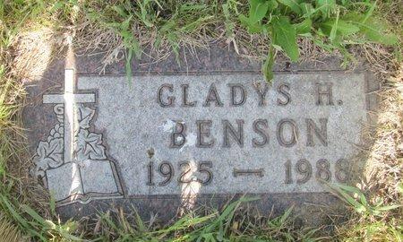 BENSON, GLADYS H. - Ward County, North Dakota | GLADYS H. BENSON - North Dakota Gravestone Photos