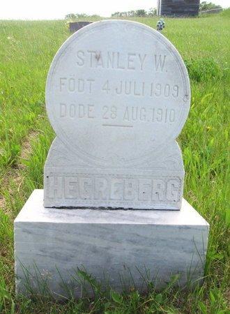 HEGREBERG, STANLEY W. - Ward County, North Dakota | STANLEY W. HEGREBERG - North Dakota Gravestone Photos