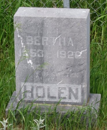 HOLEN, BERTHA - Ward County, North Dakota | BERTHA HOLEN - North Dakota Gravestone Photos