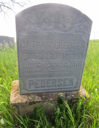 PEDERSEN, ANTON - Ward County, North Dakota   ANTON PEDERSEN - North Dakota Gravestone Photos