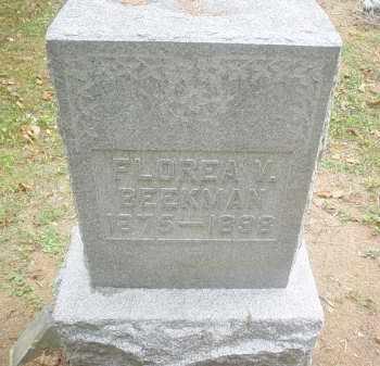 BEEKMAN, FLOREA M. - Adams County, Ohio | FLOREA M. BEEKMAN - Ohio Gravestone Photos