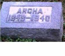 BROOKS, ARCHA - Adams County, Ohio | ARCHA BROOKS - Ohio Gravestone Photos