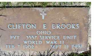 BROOKS, CLIFTON E. - Adams County, Ohio   CLIFTON E. BROOKS - Ohio Gravestone Photos