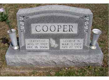 COOPER, GERTRUDE - Adams County, Ohio | GERTRUDE COOPER - Ohio Gravestone Photos