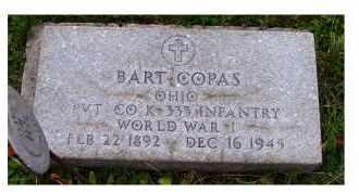 COPAS, BART - Adams County, Ohio   BART COPAS - Ohio Gravestone Photos