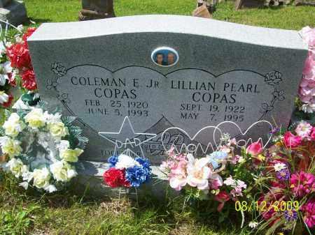 COPAS, LILLIAN PEARL - Adams County, Ohio   LILLIAN PEARL COPAS - Ohio Gravestone Photos