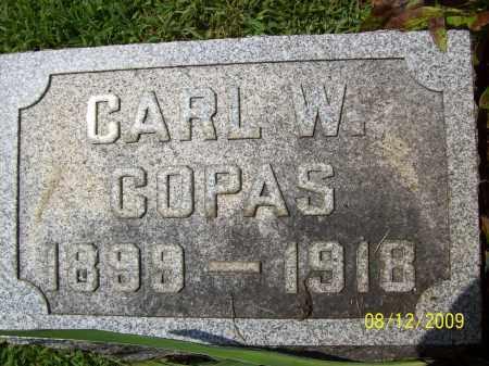 COPAS, CARL W - Adams County, Ohio   CARL W COPAS - Ohio Gravestone Photos