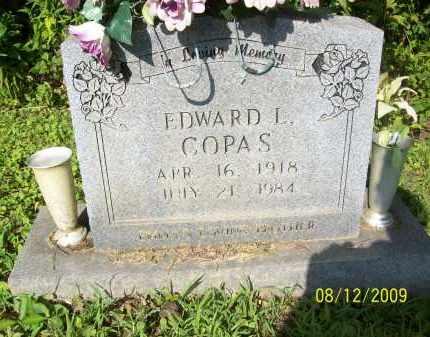 COPAS, EDWARD L - Adams County, Ohio   EDWARD L COPAS - Ohio Gravestone Photos