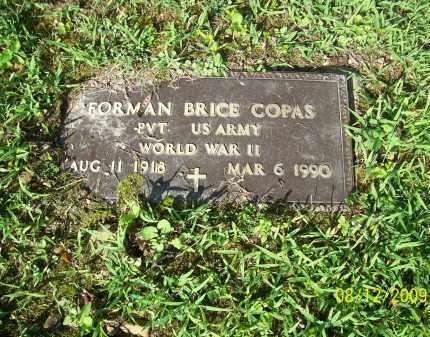 COPAS, FORMAN BRICE - Adams County, Ohio   FORMAN BRICE COPAS - Ohio Gravestone Photos