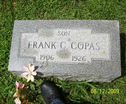 COPAS, FRANK C - Adams County, Ohio | FRANK C COPAS - Ohio Gravestone Photos
