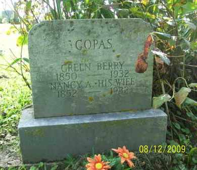 COPAS, GREEN BERRY - Adams County, Ohio | GREEN BERRY COPAS - Ohio Gravestone Photos