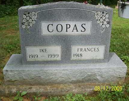 COPAS, FRANCES - Adams County, Ohio | FRANCES COPAS - Ohio Gravestone Photos