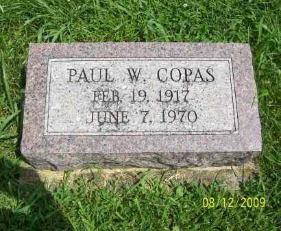 COPAS, PAUL W - Adams County, Ohio   PAUL W COPAS - Ohio Gravestone Photos