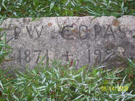 COPAS, PERIT W - Adams County, Ohio   PERIT W COPAS - Ohio Gravestone Photos