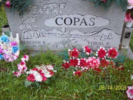 COPAS, BERCHIE E - Adams County, Ohio   BERCHIE E COPAS - Ohio Gravestone Photos