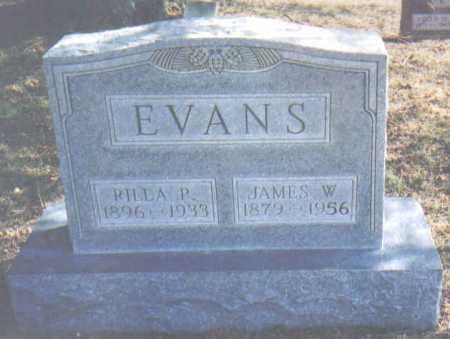 EVANS, JAMES W. - Adams County, Ohio | JAMES W. EVANS - Ohio Gravestone Photos