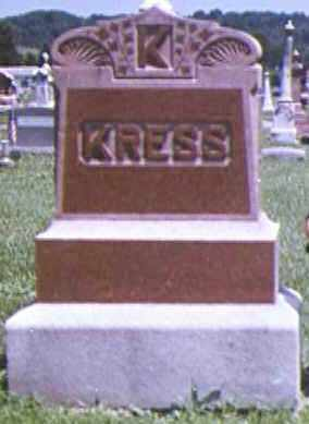 KRESS, ORA - Adams County, Ohio | ORA KRESS - Ohio Gravestone Photos