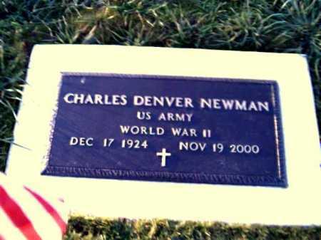 NEWMAN, CHARLES DENVER - Adams County, Ohio | CHARLES DENVER NEWMAN - Ohio Gravestone Photos