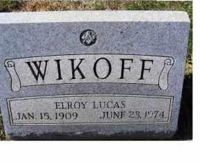 WIKOFF, ELROY LUCAS - Adams County, Ohio | ELROY LUCAS WIKOFF - Ohio Gravestone Photos