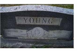 YOUNG, MARY E. - Adams County, Ohio   MARY E. YOUNG - Ohio Gravestone Photos