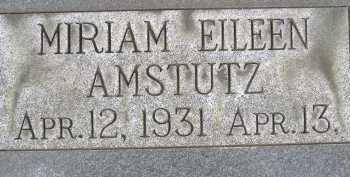AMSTUTZ, MIRIAM EILEEN - Allen County, Ohio | MIRIAM EILEEN AMSTUTZ - Ohio Gravestone Photos