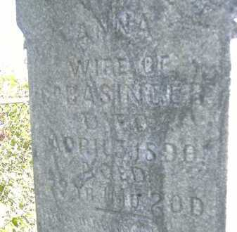 BASINGER, ANNA - Allen County, Ohio | ANNA BASINGER - Ohio Gravestone Photos