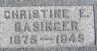 BASINGER, CHRISTINE E. - Allen County, Ohio | CHRISTINE E. BASINGER - Ohio Gravestone Photos