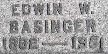 BASINGER, EDWIN W. - Allen County, Ohio | EDWIN W. BASINGER - Ohio Gravestone Photos