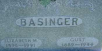 BASINGER, ELIZABETH M. - Allen County, Ohio | ELIZABETH M. BASINGER - Ohio Gravestone Photos