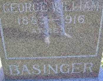 BASINGER, GEORGE WILLIAM - Allen County, Ohio   GEORGE WILLIAM BASINGER - Ohio Gravestone Photos