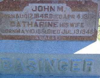 BASINGER, CATHARINE - Allen County, Ohio | CATHARINE BASINGER - Ohio Gravestone Photos