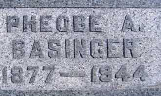 BASINGER, PHEOBE A. - Allen County, Ohio | PHEOBE A. BASINGER - Ohio Gravestone Photos