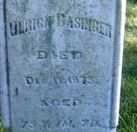 BASINGER, ULRICH - Allen County, Ohio | ULRICH BASINGER - Ohio Gravestone Photos