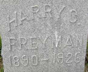 FREYMAN, HARRY G. - Allen County, Ohio   HARRY G. FREYMAN - Ohio Gravestone Photos