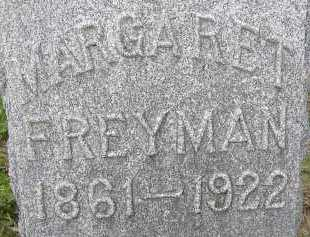 FREYMAN, MARGARET - Allen County, Ohio | MARGARET FREYMAN - Ohio Gravestone Photos