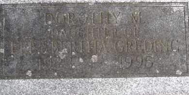 GREDING, DOROTHY M. - Allen County, Ohio | DOROTHY M. GREDING - Ohio Gravestone Photos