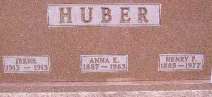 HUBER, IRENE - Allen County, Ohio | IRENE HUBER - Ohio Gravestone Photos