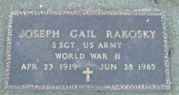 RAKOSKY, JOSEPH GAIL - Allen County, Ohio   JOSEPH GAIL RAKOSKY - Ohio Gravestone Photos